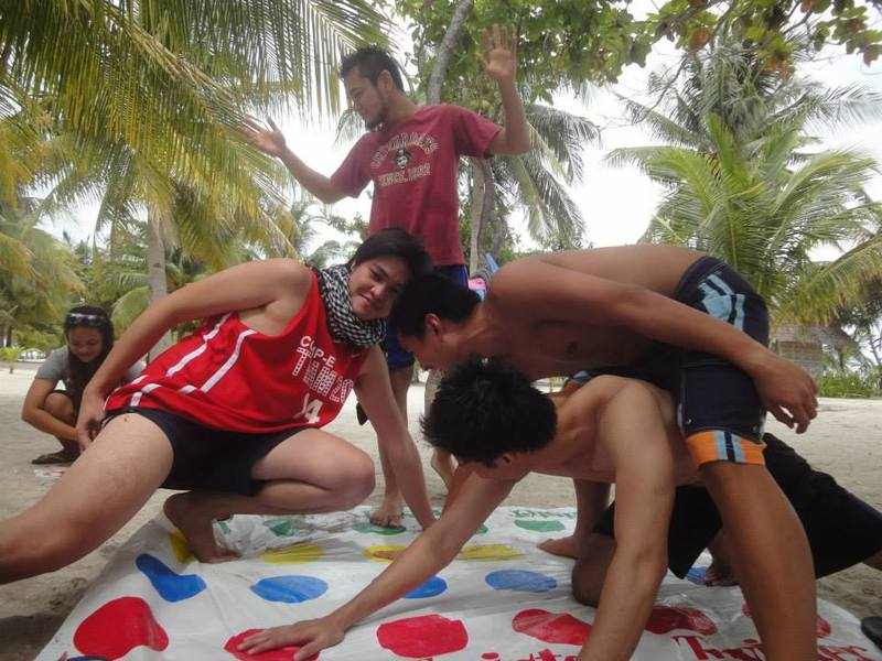 twister with the boys