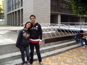 with my best friend in Macau