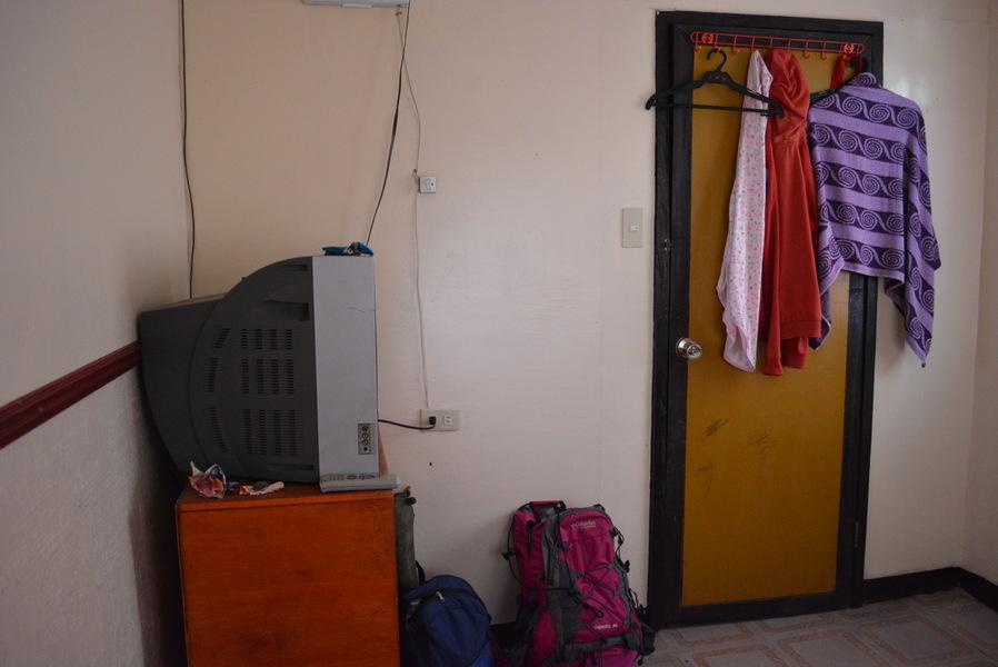 the door from inside the room