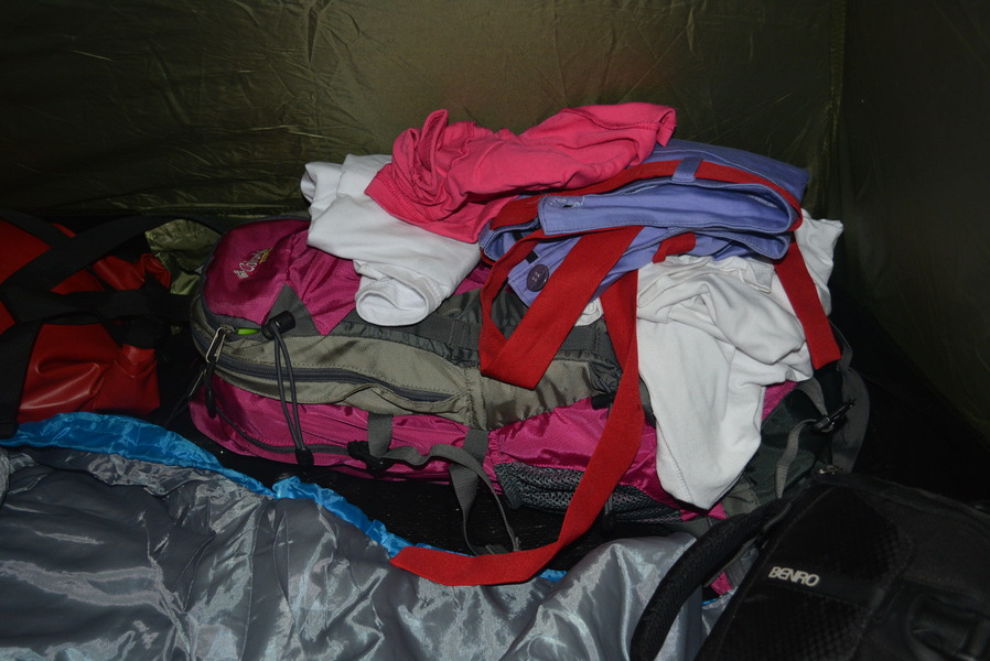 our overnight bag - heavy, I know