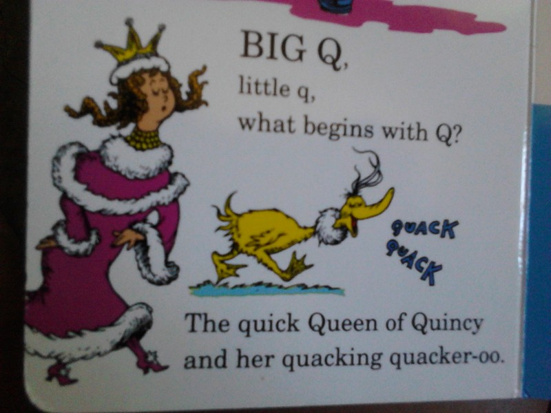 A-Z Challenge: Q is for Quick Queen of Quincy and her Quacking Quaker-oo (Baby Book Recommendations)!