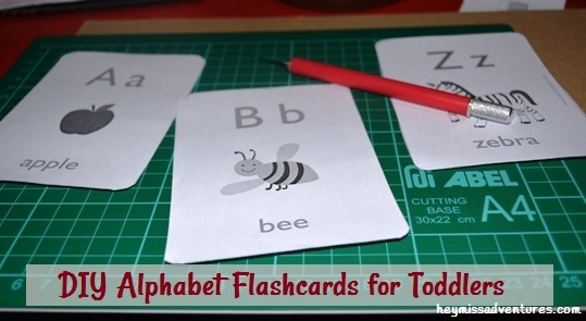 DIY Alphabet Flashcards for Toddlers