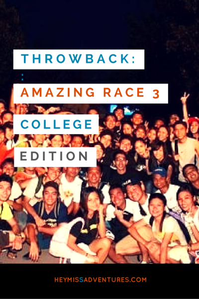 Throwback: The Amazing Race 3 College Edition | Hey, Miss Adventures!