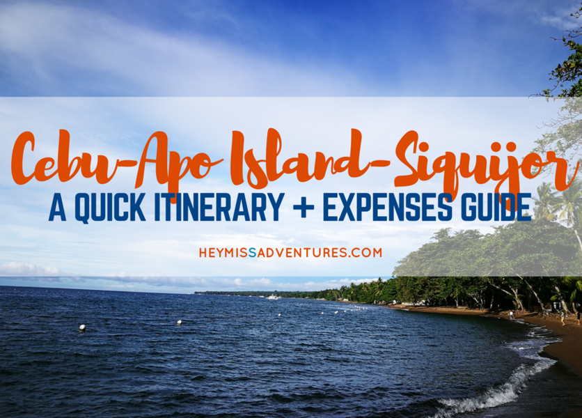 3D2N Cebu-Apo Island-Siquijor Itinerary and Expenses Guide