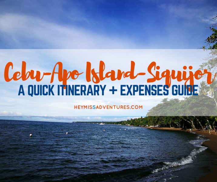3D2N Cebu-Apo Island-Siquijor Itinerary and Expenses Guide | Hey, Miss Adventures!