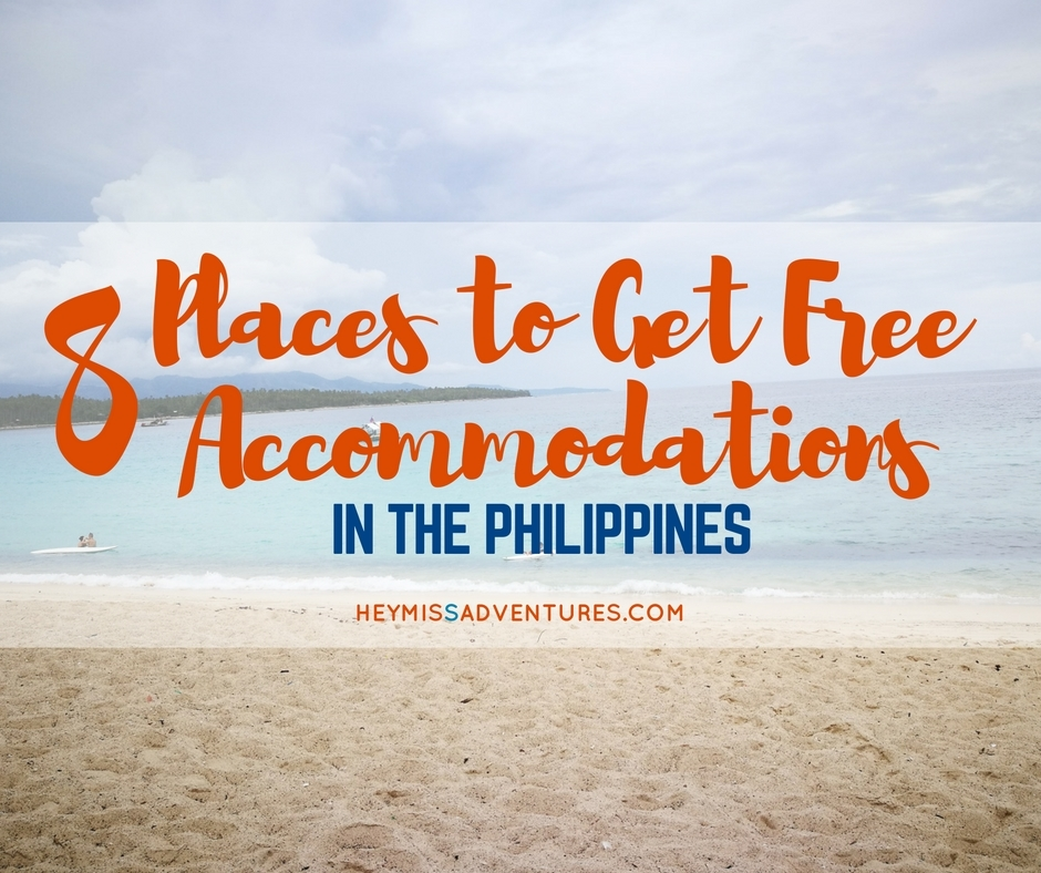 free accommodations in the philippines