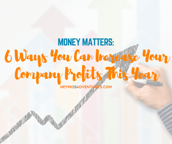 6 Ways You Can Increase Your Company Profits This Year | Hey, Miss Adventures!