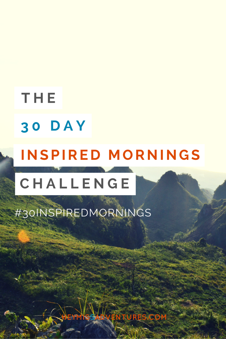 The 30-Day Inspired Mornings Challenge!