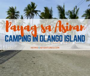 Payag sa Asinan Eco-Tourism Park: Camping at Olango Island