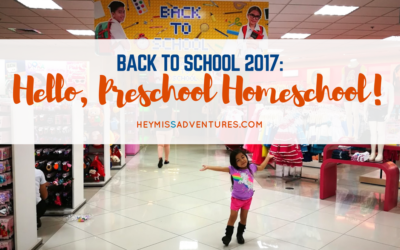 Back to School: Hello, Preschool Homeschool!