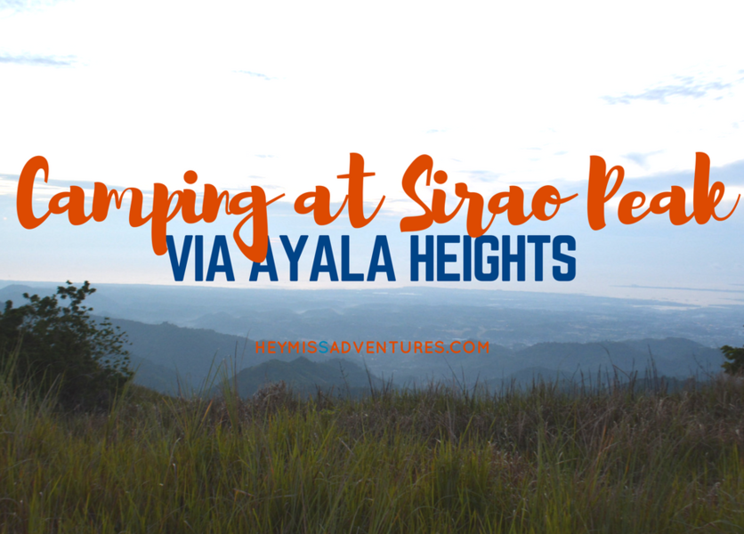 Camping at Sirao Peak via Ayala Heights