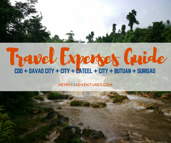 travel expenses mindanao guide